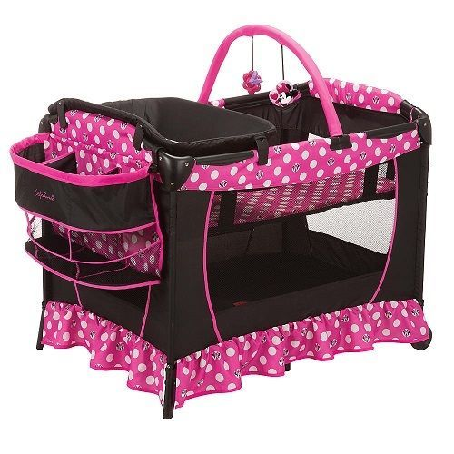 Disney Minnie Playard Baby Infant Bassinet Safety Play Yard Changer Pack N Play