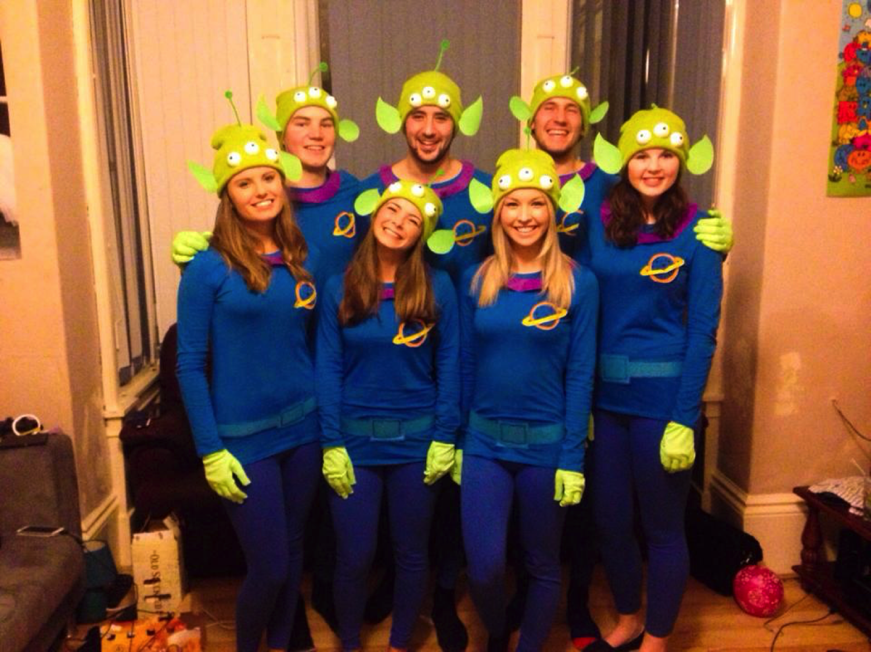 Disney Pixar Fancy Dress Group Team Costumes Toy Story Little Green Aliens Cute Group Halloween Costumes Halloween Costumes For Work Halloween Costumes Friends