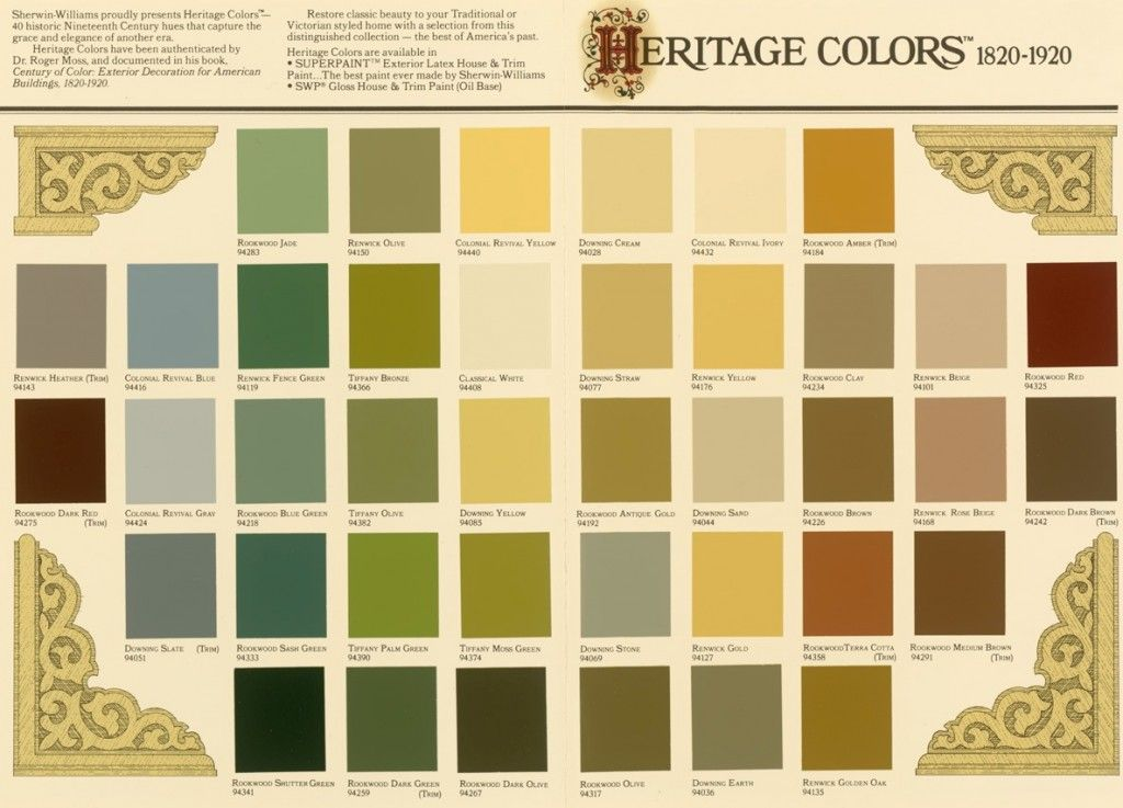 Victorian Color Palette Generally Used In 3 Color