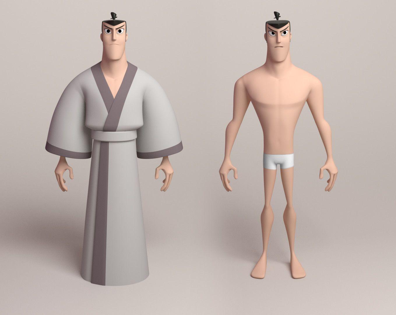 Artstation Samurai Jack Dann Beeson Modelos Personagem Em
