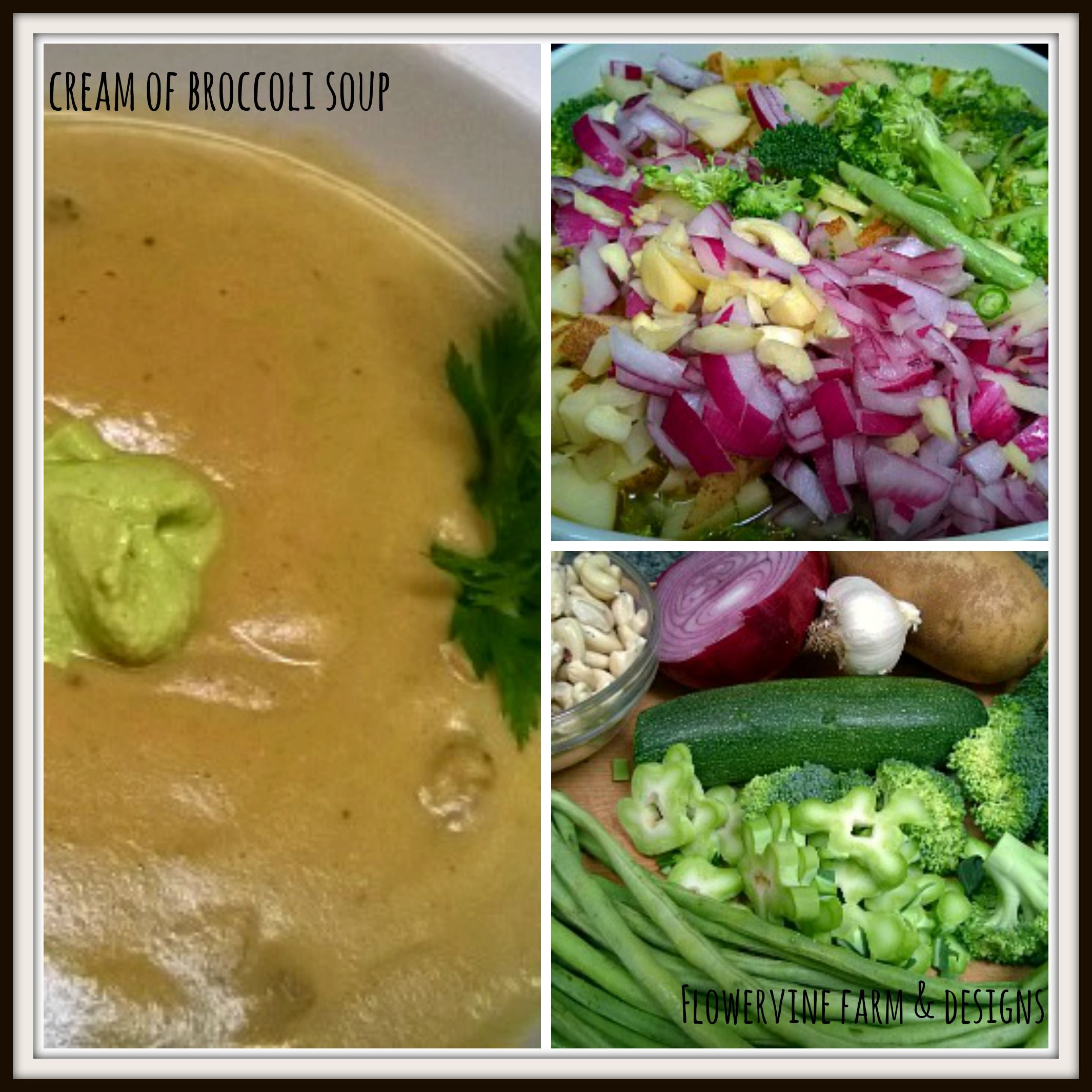 Vegan cream of broccoli wchinese long green bean and red onion soup recipes forumfinder Images