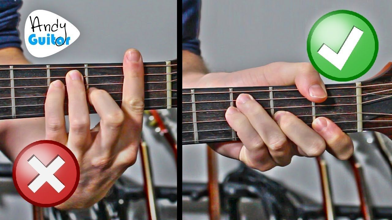 Every common barre chord cheat on guitar f bm etc
