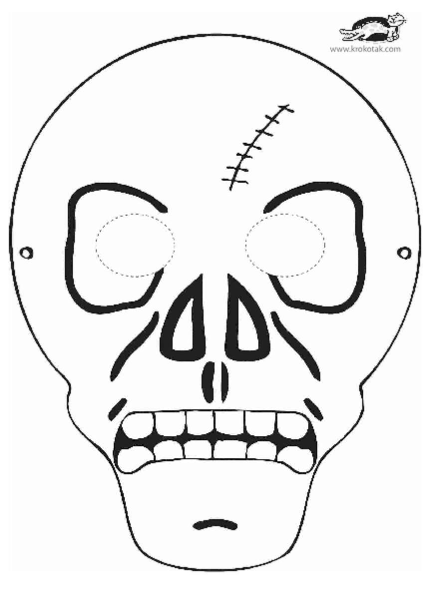 Printable Skeleton Mask Bricolage Halloween Halloween Masks Halloween