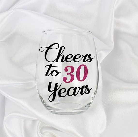 Cheers To 30 Years 30th Birthday Gift For Women Best Friend
