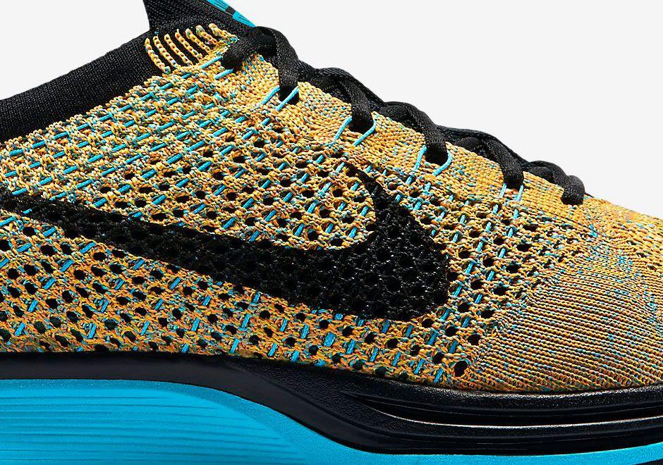 d64272b465e71 Nike Flyknit Racer - Bright Citrus - Blue Lagoon - SneakerNews.com ...