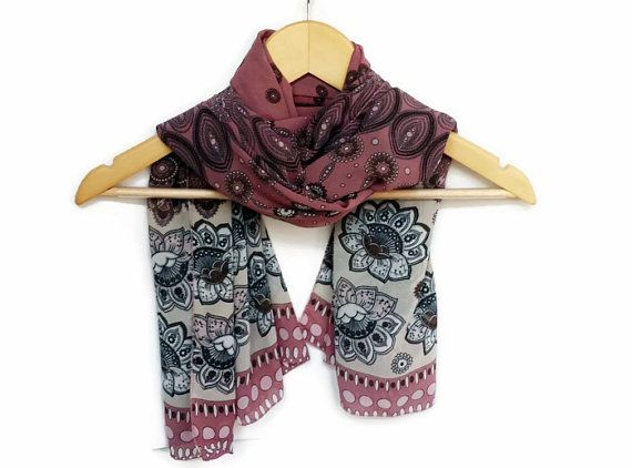 Very Nice Lightweight Chiffon Soft Pink Scarf by HeraScarf on Etsy, $9.90