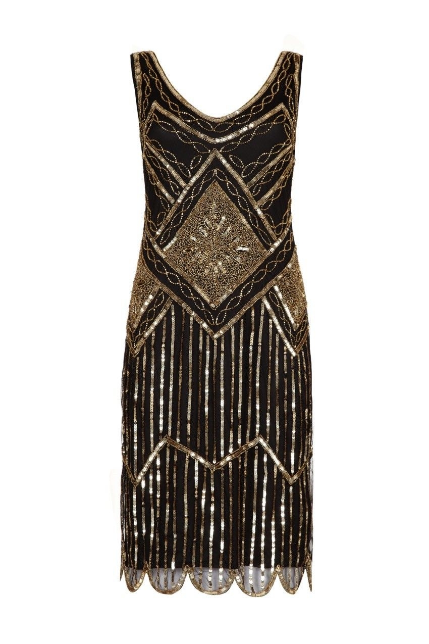 Edith black u gold beaded dress with sequins dresses pinterest