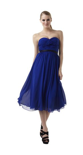 Indigo Tea Length Dresses