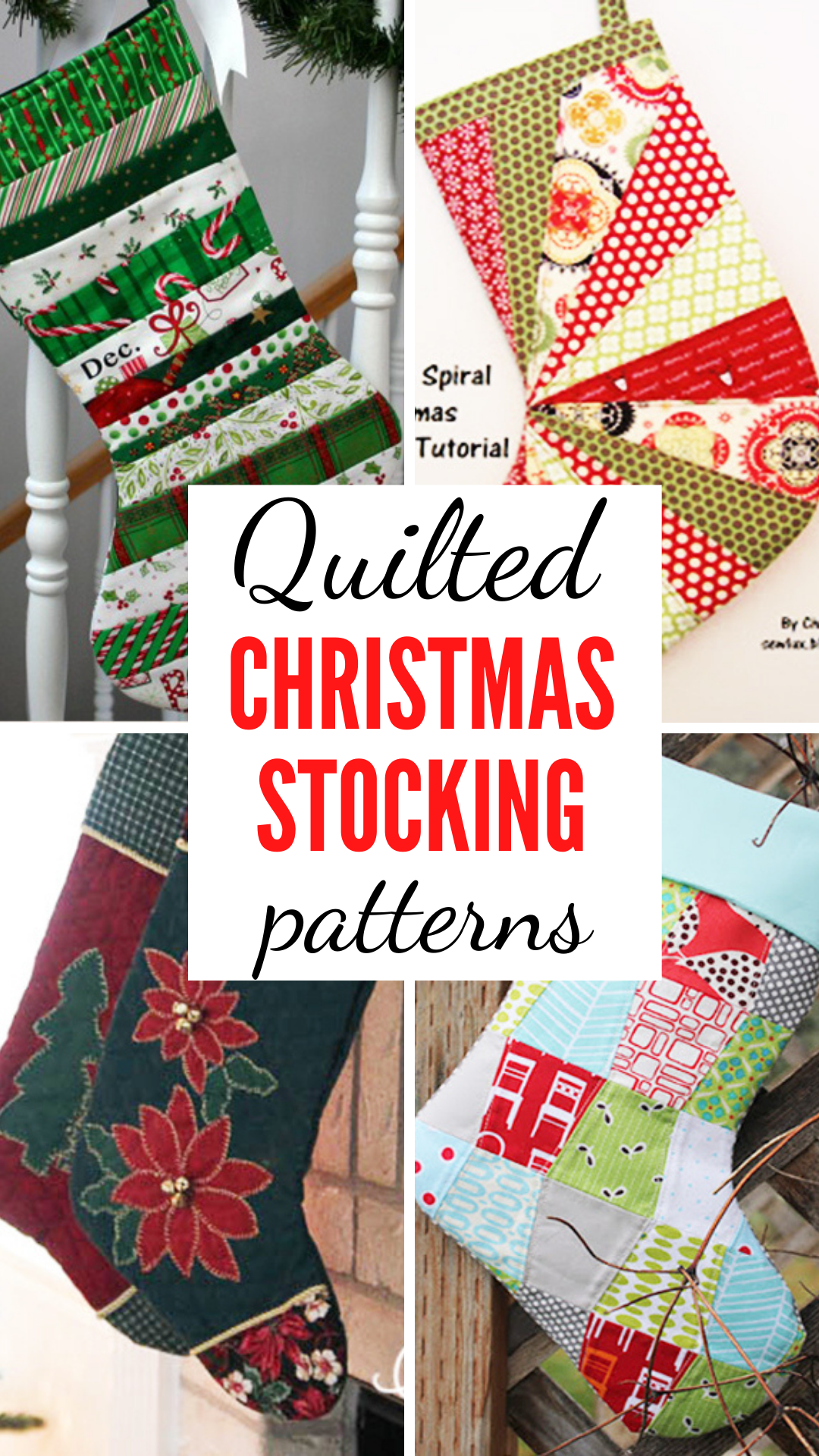 Free Quilted Christmas Stocking Patterns To Spruce Up Your Holiday Mantel In 2020 Christmas Stocking Pattern Quilted Christmas Stockings Stocking Pattern