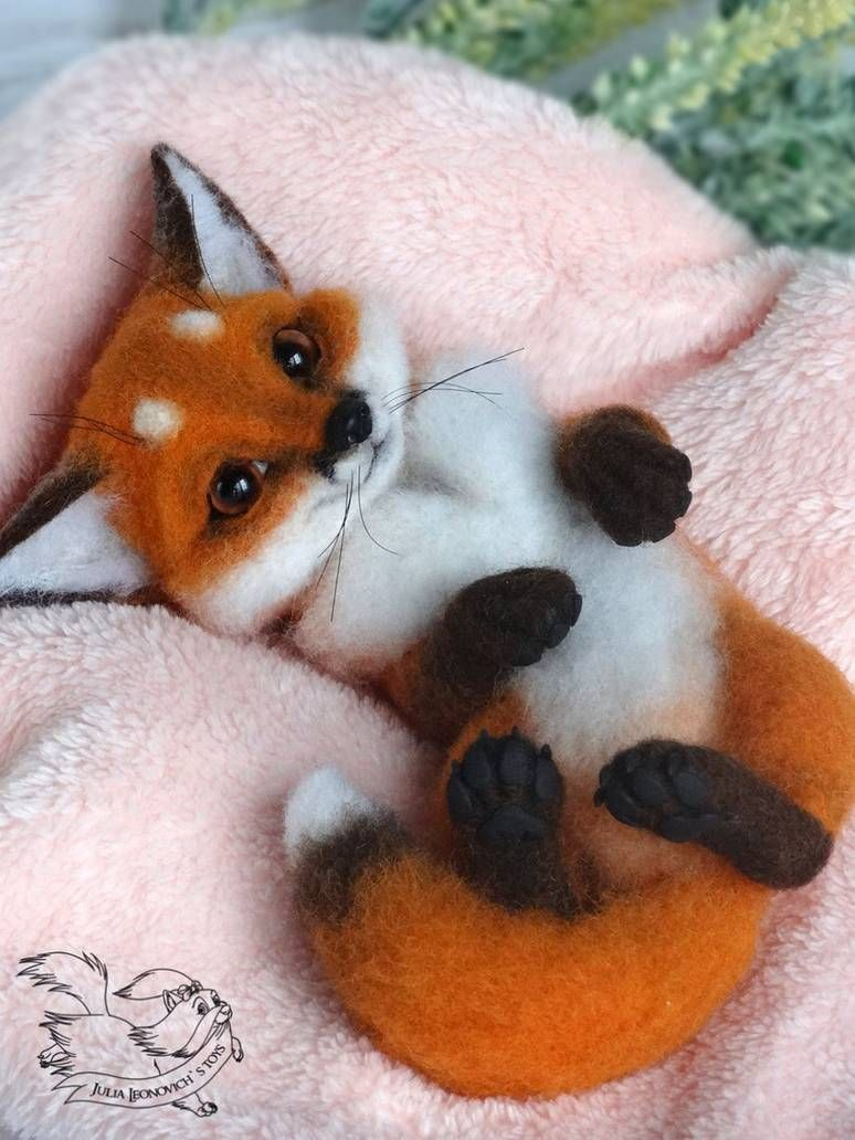Needle Felted Fox by YuliaLeonovich on DeviantArt