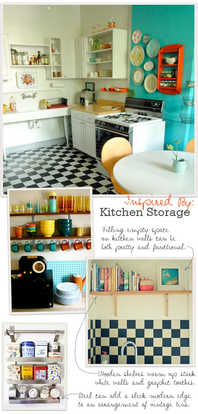 Inspired By Kitchen Storage Checkered floor kitchen