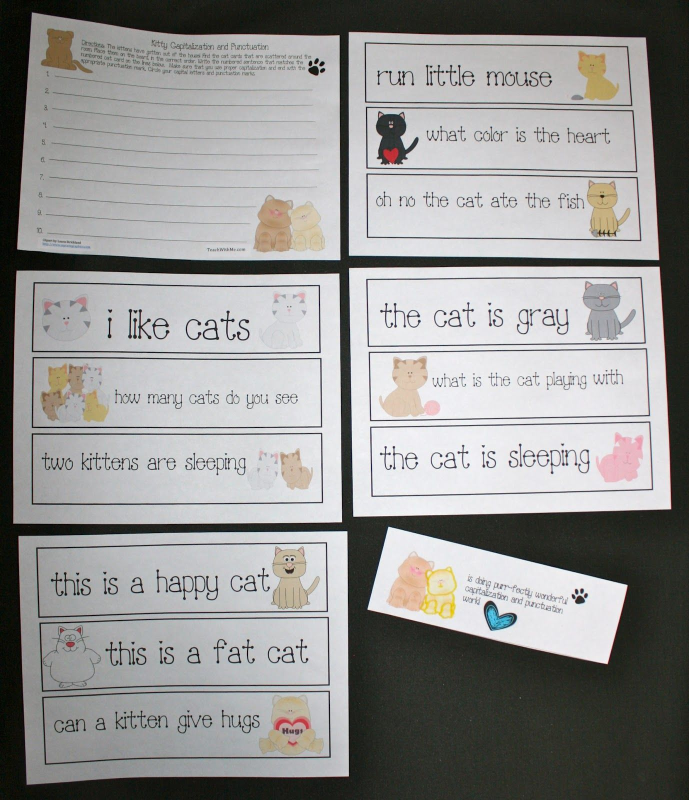 Cat Capitalization And Punctuation Activity