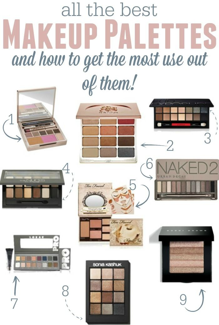 All the best makeup palettes and a few simple tips and ticks to get the most out of them!