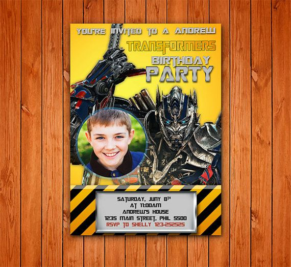 Transformer Optimus Prime Birthday Card Customized Birthday Theme