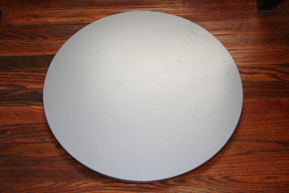 Ikea Rulla Turntable Swivel Tv Stand Lazy Susan 19 Diameter Round Gray Silver