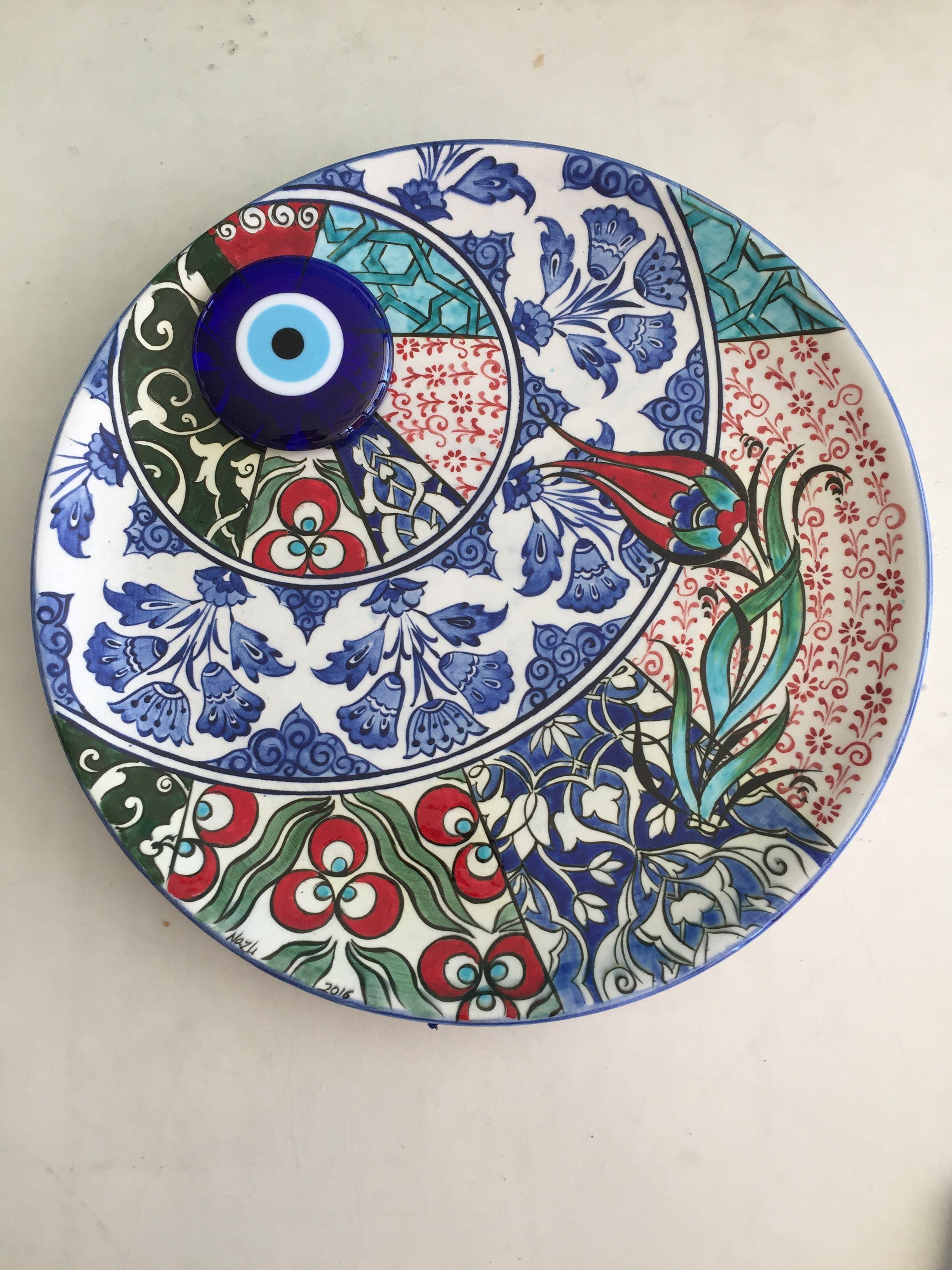 Turkish Tiles Turkish Art Tile Art Ceramic Plates Islamic Art Kaftan Dishes Bellisima Decorative Plates & Pin by Nazli Pinar YERIN on Lalenaz çini ve ö?renci çal??malar? ...