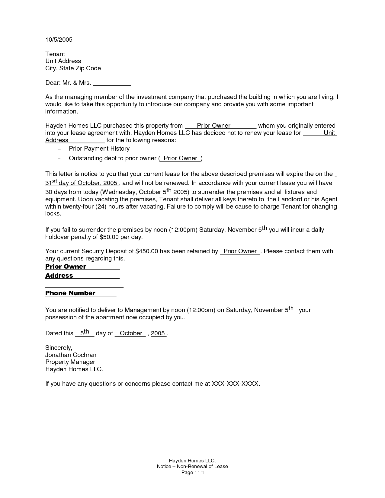 landlord end of tenancy agreement letter template letter idea 2018