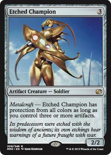 CHINESE ETCHED CHAMPION Scars Of Mirrodin SOM Magic MTG MINT CARD
