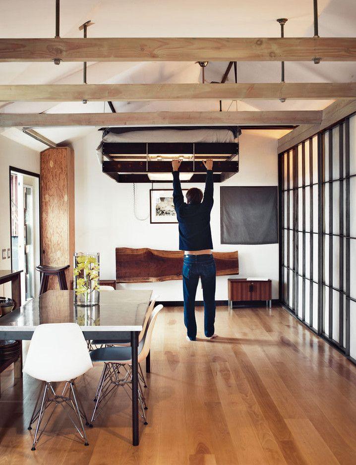 kleine wohnu, die kleine wohnung einrichten mit hochhbett | ideas casa | pinterest, Design ideen