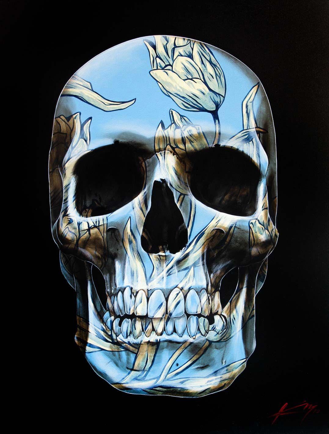 Skull 129 © Gerrard King - French Tulip Skull