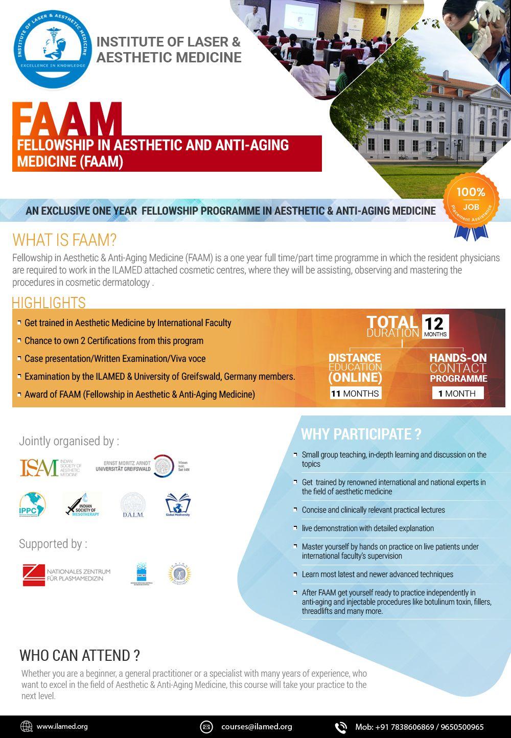Fellowship In Aesthetic Anti Aging Medicine Faam In 2020