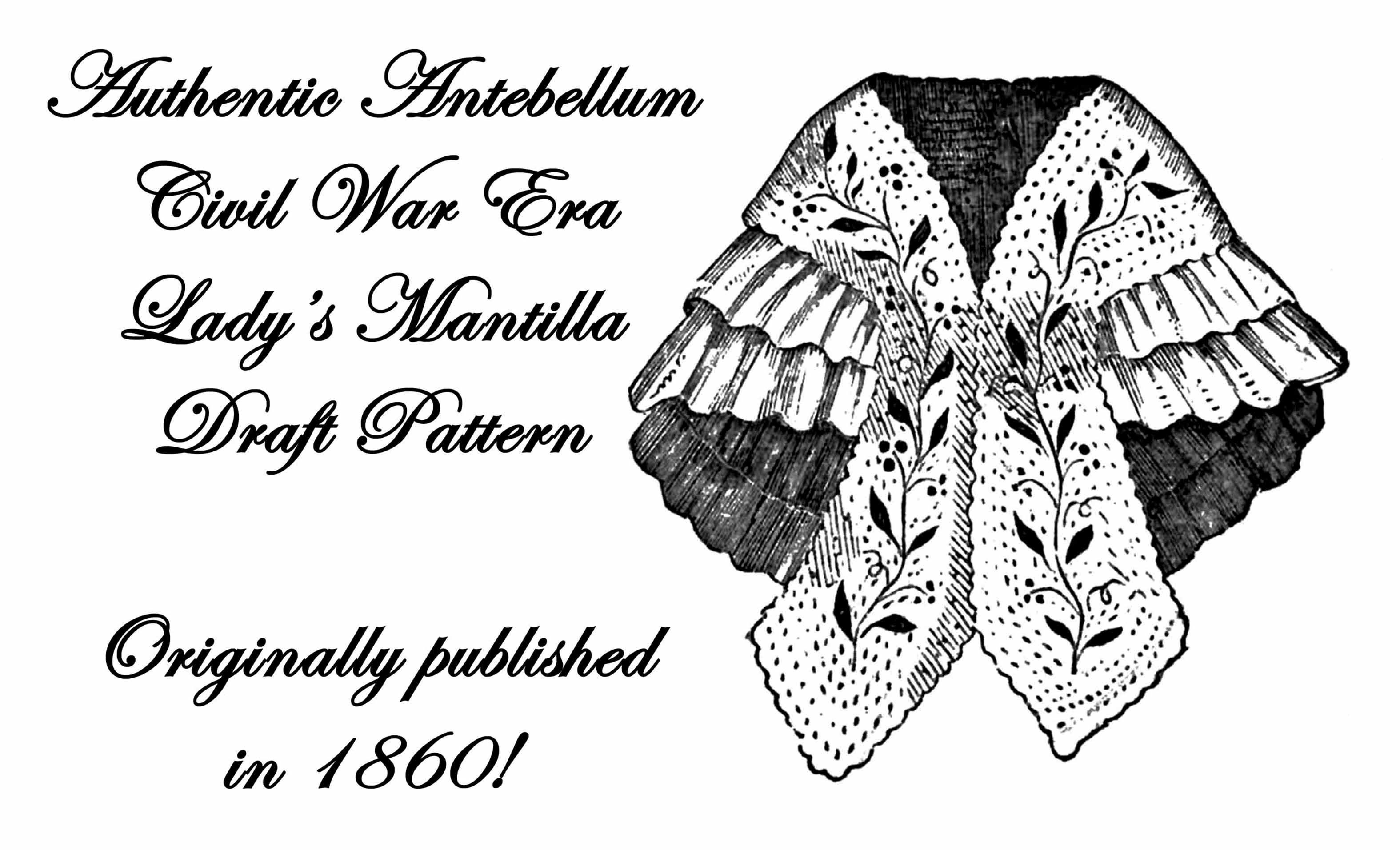 Cape Pattern Knitting Antebellum Victorian Civil 1859