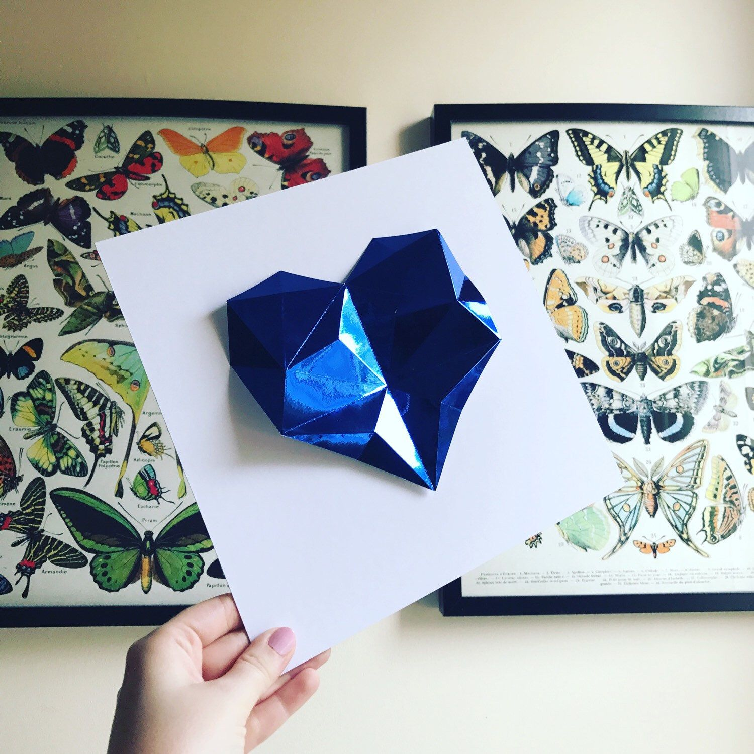 45Th Wedding Anniversary Gift | The Perfect 45th Wedding Anniversary Gift Sapphire Origami Heart