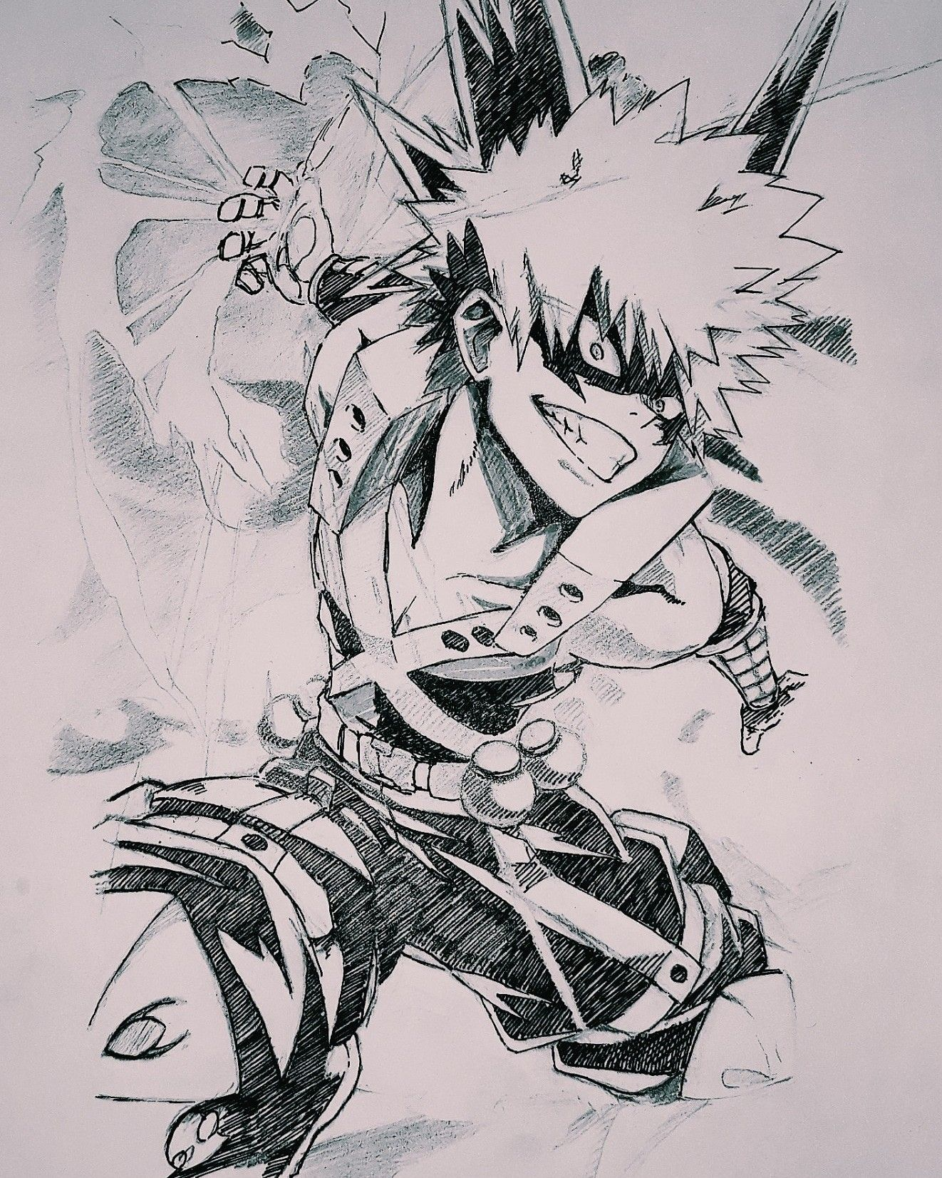 Bakugou Katsuki By Yaumil Putra Putput Putra Anime Character Drawing My Hero Academia Episodes Sketches