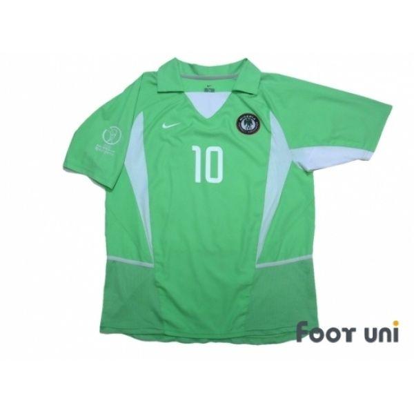 buy online b6802 35b11 Photo1: Nigeria 2002 Home Shirt #10 Okocha Korea Japan FIFA ...