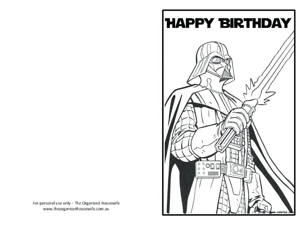 Happy Birthday Coloring Card Beautiful Free Printable Happy Birthday Color Star Wars Happy Birthday Happy Birthday Coloring Pages Free Printable Birthday Cards