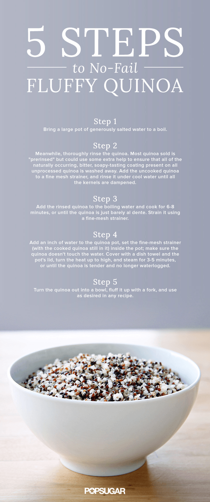 How to cook perfectly fluffy quinoa.