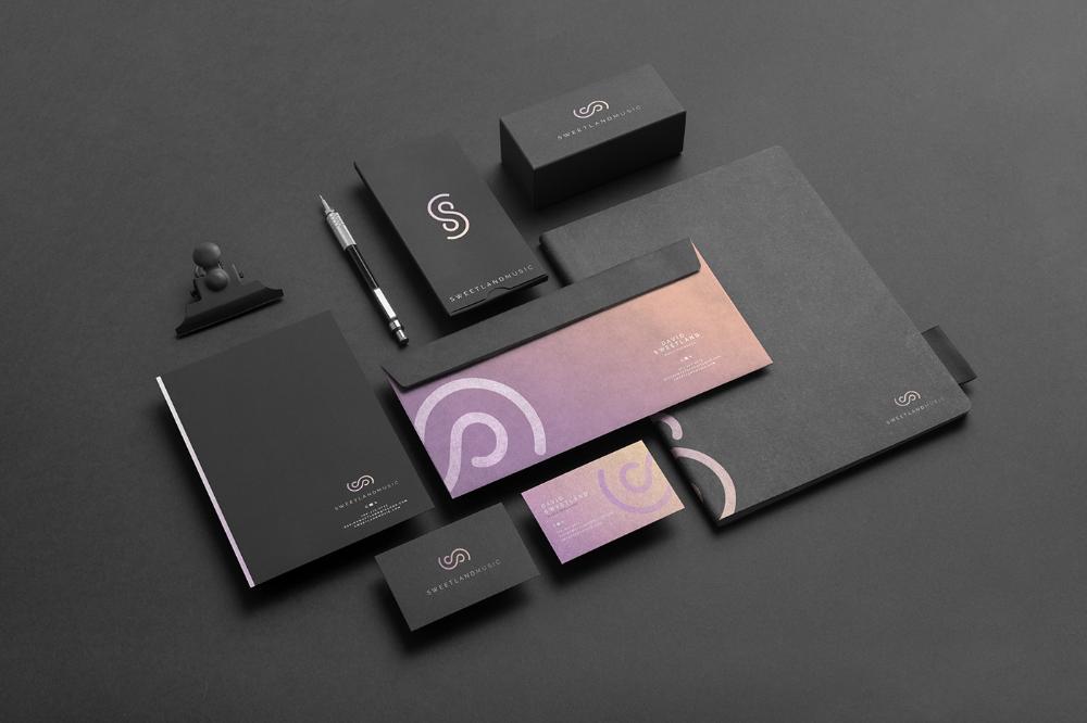 Sweetland Music Fivestar Branding Agency In 2020 Examples Of Business Cards Branding Branding Agency