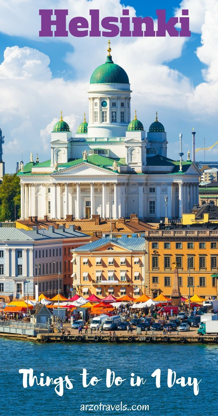 Spending a day in Helsinki isn't much but here are must-do activities and places you should not miss in Helsinki. Finland. Helsinki Cathedral.