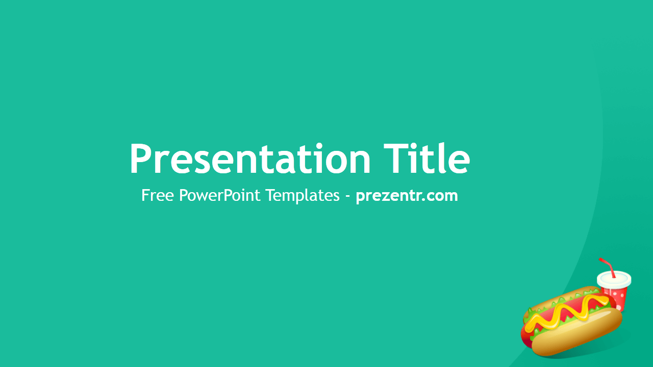 Powerpoints Templates | Free Hot Dog Powerpoint Template Prezentr Powerpoint Templates