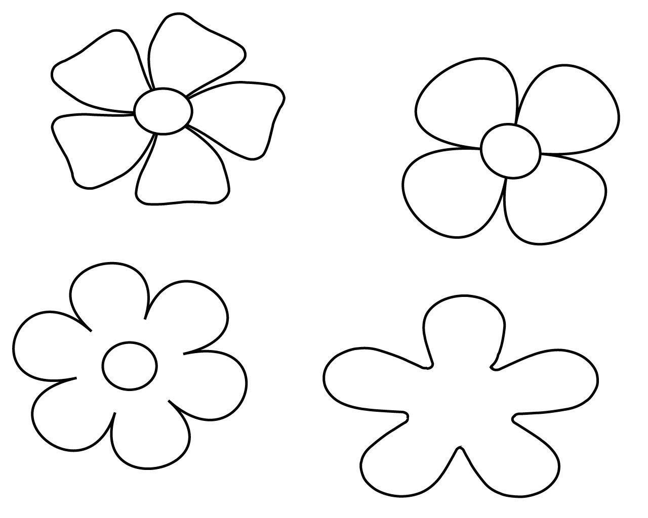 Best Simple Flower Coloring Pages To Print Printable Flower