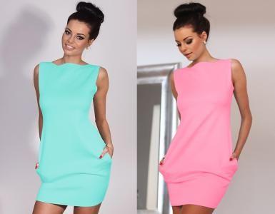 Seksowna Sukienka Bombka Kieszenie Oversize P587 5284406834 Oficjalne Archiwum Allegro High Neck Dress Formal Dresses Dresses