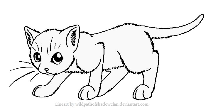 cute little warrior kitty coloring pages
