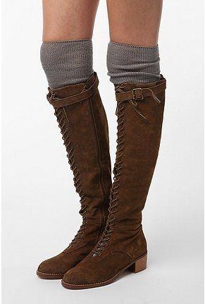 Marled Zigzag Thigh High Sock - StyleSays