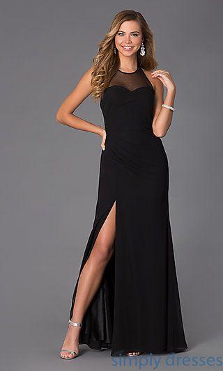 Floor Length High Neck Halter Gown by Faviana at SimplyDresses.com