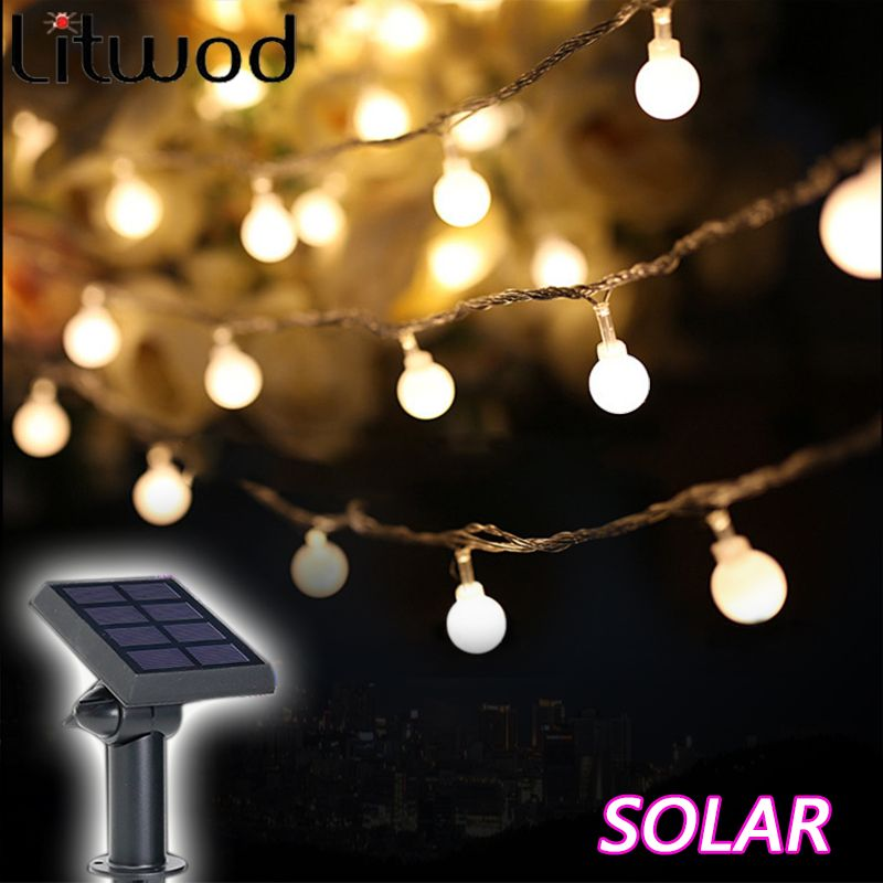 Litwod solar lamps outdoor lighting 50 beads 7 meters string led litwod solar lamps outdoor lighting 50 beads 7 meters string led starry light rope patio decor mozeypictures Choice Image