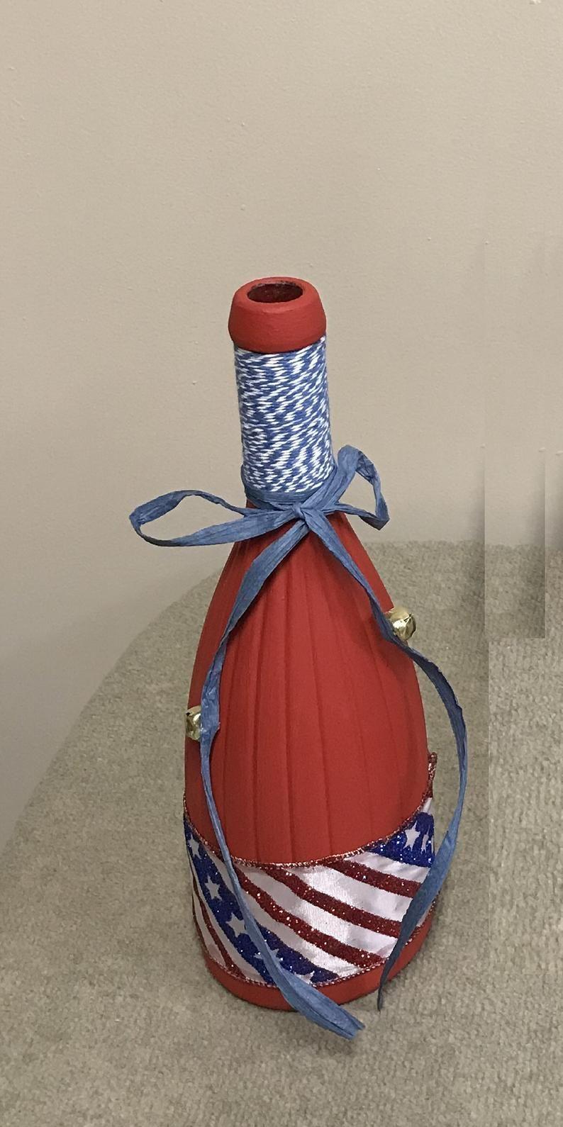 Pin By Nancy Sage On Crafts In 2020 Wine Bottle Decor Blue Wine Bottles Bottles Decoration