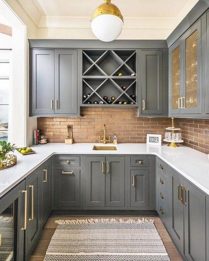 Black Kitchen Cabinets Blue, Paint Kitchen Cabinets Dark Grey