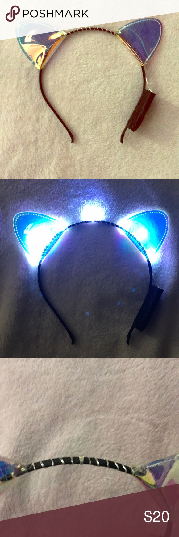 Adorable Claire S Light Up Cat Ears Headband Like New Claire S Adorable Light Up Cat Ears Headband The E Cat Ears Headband Claire S Accessories Things To Sell