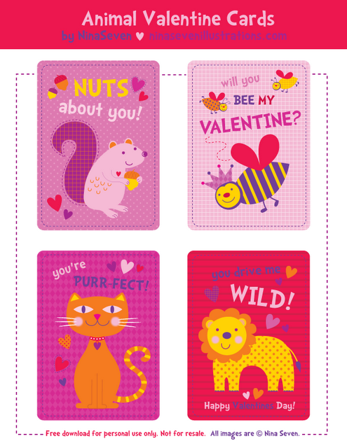 Free Printable Valentine S Day Cards For Kids Printable