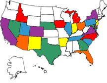 States I have visited. :)