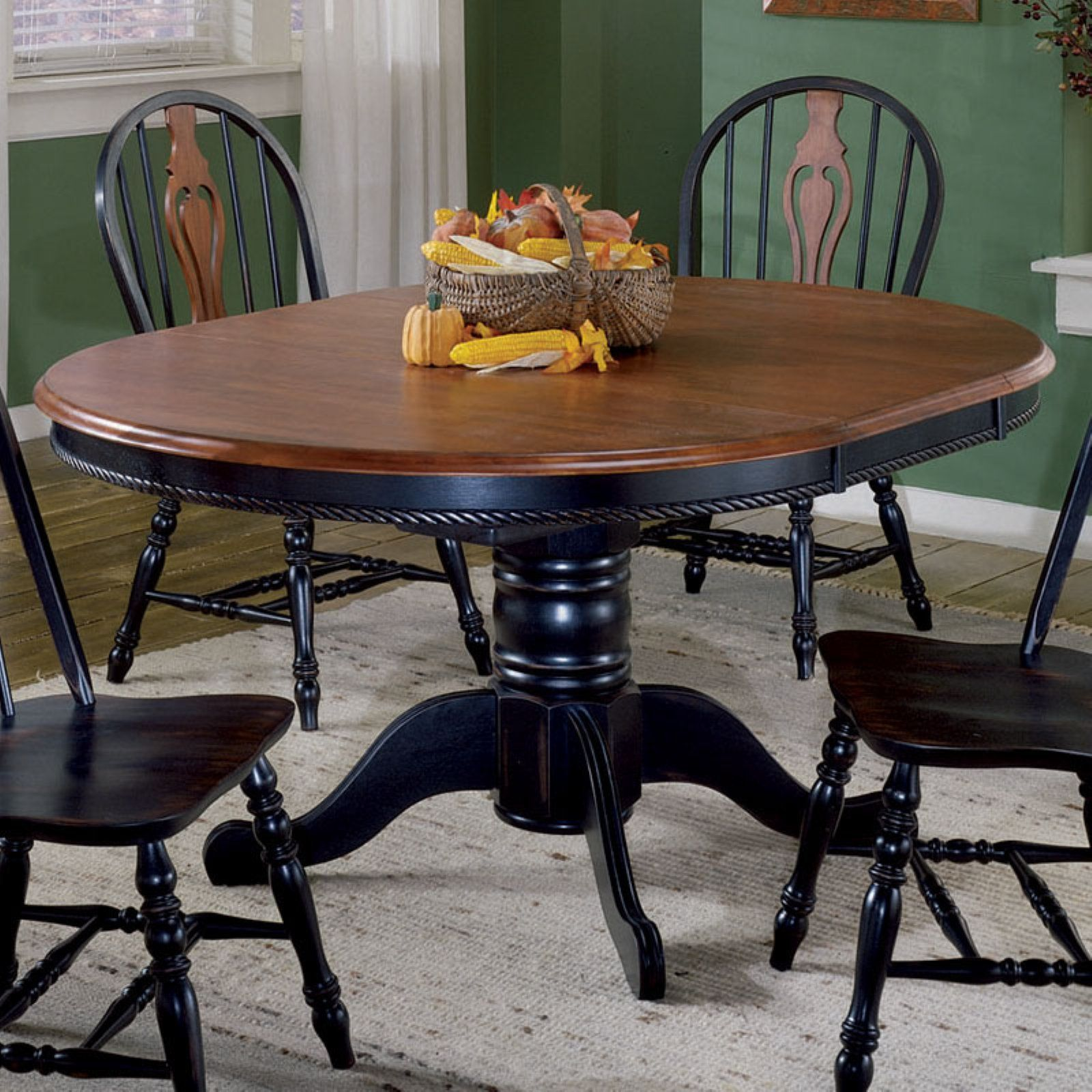Sunset Trading 9 Inch Round Dining Table with Butterfly Leaf ...
