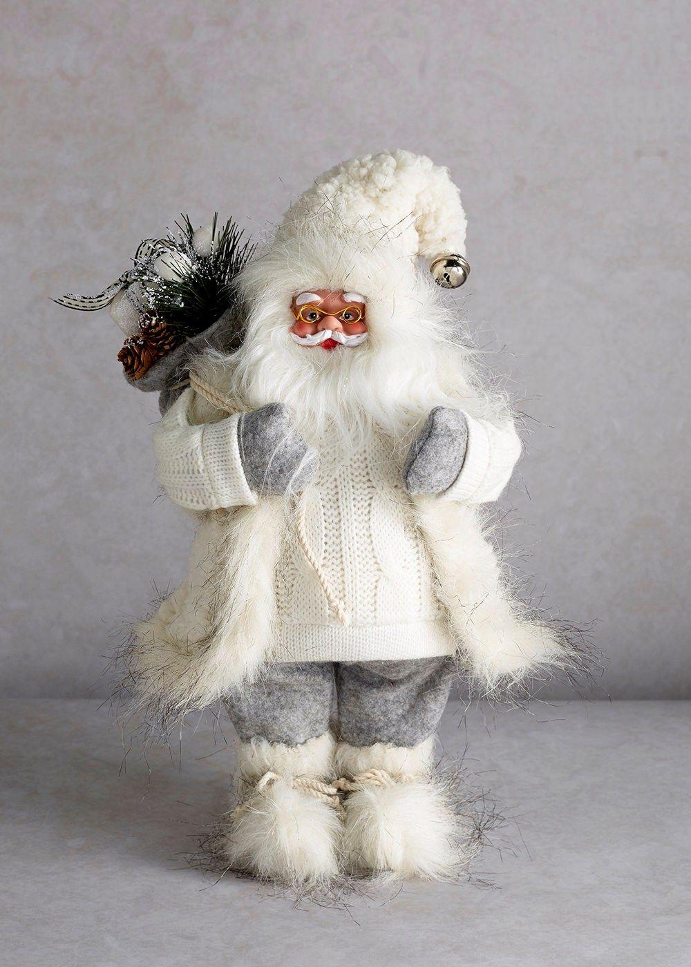 Traditional Santa Fluffy Christmas Ornament (33cm ...