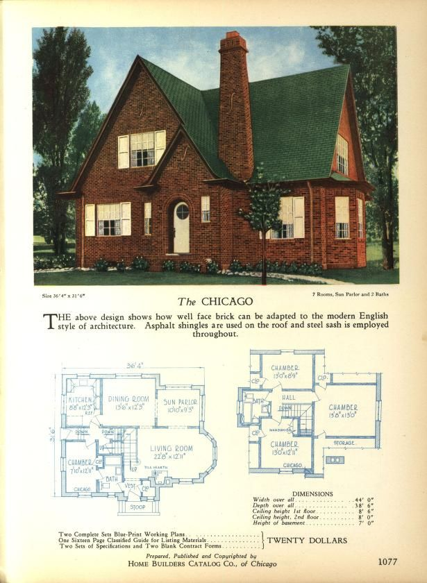 Home Builders Catalog: plans of all types of sm...   Retro house ...