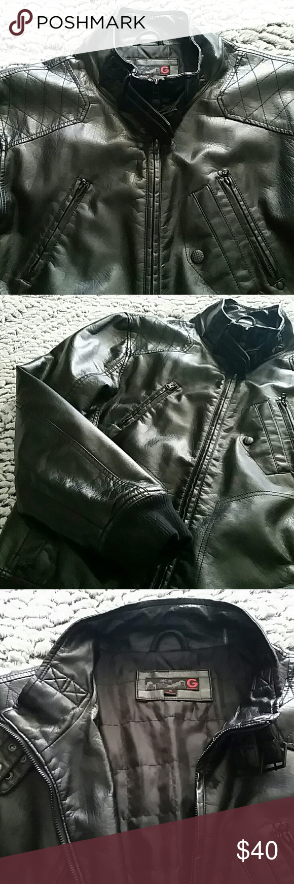 Selling this Black Faux Leather Jacket by G by Guess on Poshmark! My username is: edismoz. #shopmycloset #poshmark #fashion #shopping #style #forsale #G by Guess #Other