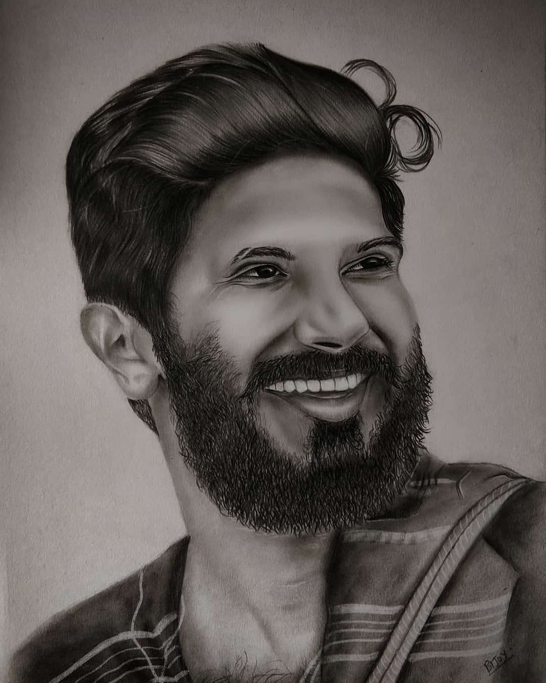 The fantastic actor dulquer salmaan aka dq black white